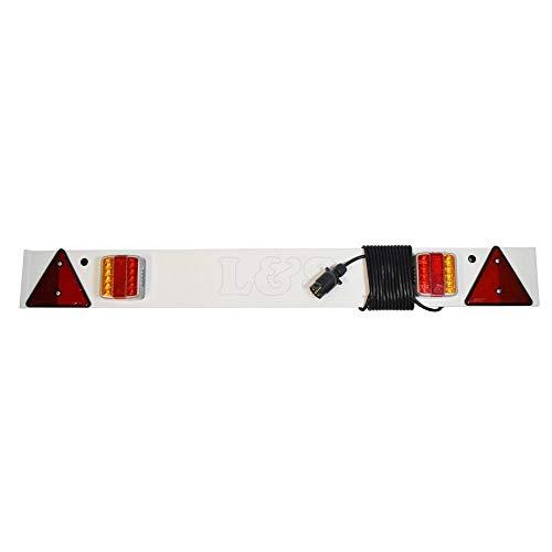 Anhängerplatte, 5 m langes Kabel, variable Volt-LED-Lampen und Nebel zum Abschleppen