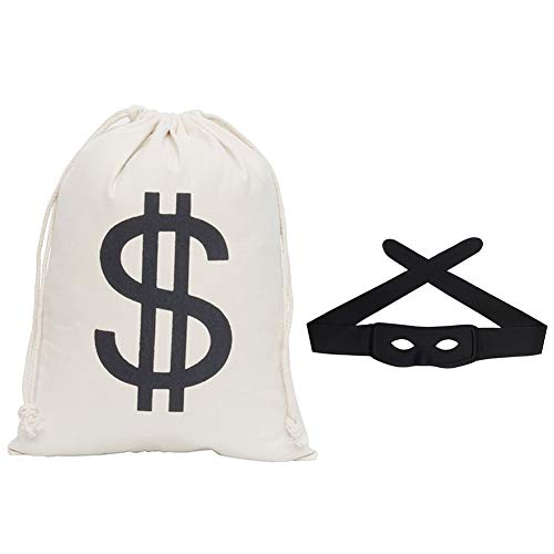 Secaden Dollar Sign Money Bag 16 x 11 inch Drawstring Pouch Bandit...