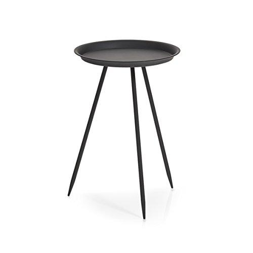 Zeller 17004 Beistelltisch, rund, Metall, schwarz, ca. Ø 29,5 x 44 cm
