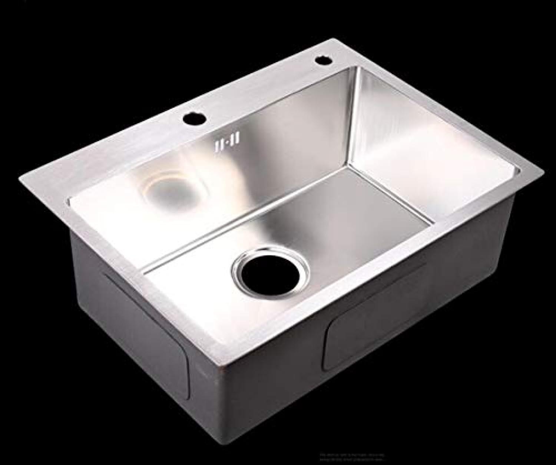 Küchenspüle, 304 Edelstahl-Handspülbecken Dicken Groen Einschlitz-Küchen-Küchenplatz Edelstahlspülbecken
