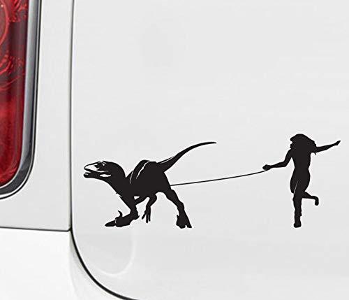 H421ld Calcomanía de vinilo para coche, velociraptor Walker, mujer raptor caminando, dinosaurio, coche 2014 (21,5 cm de ancho x 7,6 cm de alto)