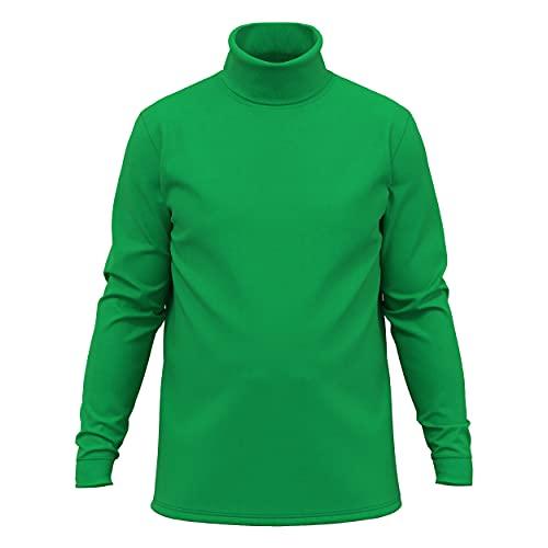 Green Men's Combed Cotton Euro Design Ski Casual Turtleneck (Large)