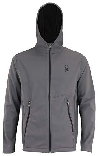 Spyder Men's Transform Hooded Soft Shell Jacket, Polar Medium