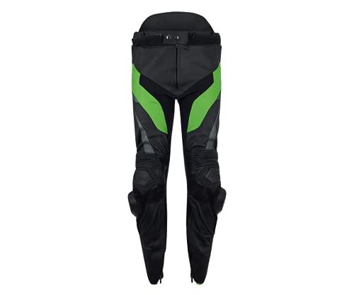 Kawasaki KRT Herren Lederhose schwarz/grün Größe 3XL