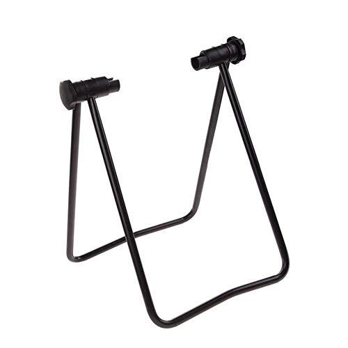 Currentiz - Soporte de reparación de bicicleta de acero ajustable para reparación de pantalla plegable, soporte de aparcamiento ideal para el mecánico en casa