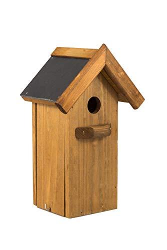 MAZUR International Nistkasten Natur für Blaumeisen & kleine Meisenarten aus Holz -wetterfest, Vogelhaus für Meisen und Spatz Nisthilfe mit 35 mm Einflugloch Vogelhaus Meisenkasten Nisthöhle