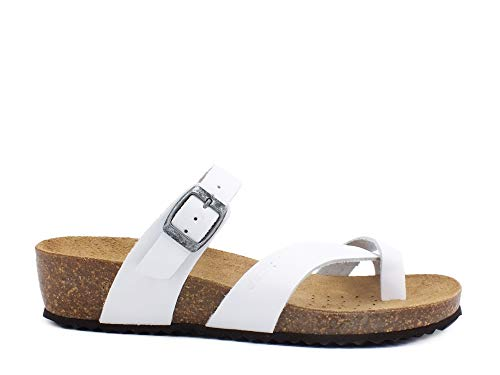 Geox - flip flops d sthellae nabuk - 40 - bianco