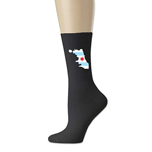 Calcetines atléticos de la novedad, calcetines transpirables de la compresión de la bandera de Chicago