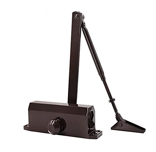 JIAN Puerta hidráulica de aleación de Aluminio de Color Negro Closer 40kg-65kg Mute AUTOMÁTICO Mute DE Mute DE Mute DE Mudo DE Fuego DE Fuego Ajustable Ajustable Exquisite (Color : 1303 Brown)
