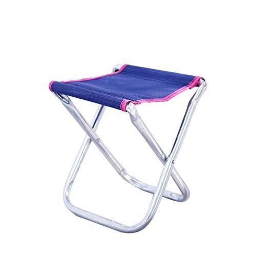 KLFD Folding Camping Stool Portable Folding Stool Collapsible Camp Stool Outdoor Folding Seat Slacker Chair Random Color,Purple