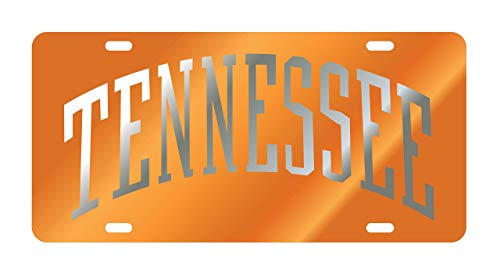 Craftique UT TENNESSEE VOLS Mirrored Auto License Plate Tag