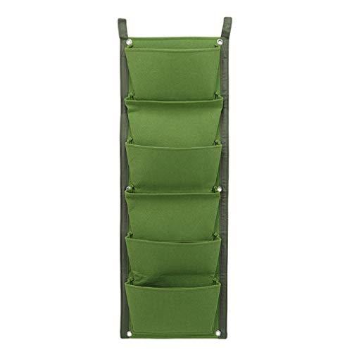 Yinew 6 Taschen Vertikale Wand Garten Pflanztasche Wandbehang Pflanzbeutel Wandhalterung Pflanzer Lösung