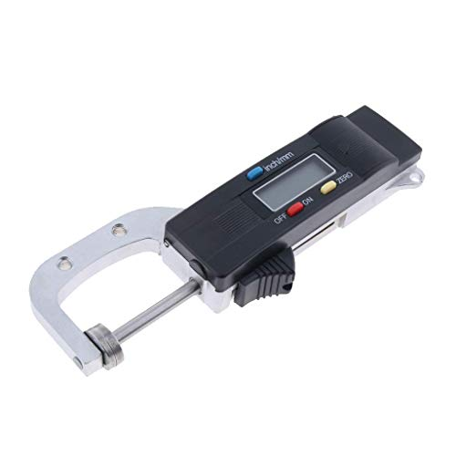 Allamp Herramienta del micrómetro medidor 0-25mm LCD portátil Digital Grueso Calibre Medida de Espesor
