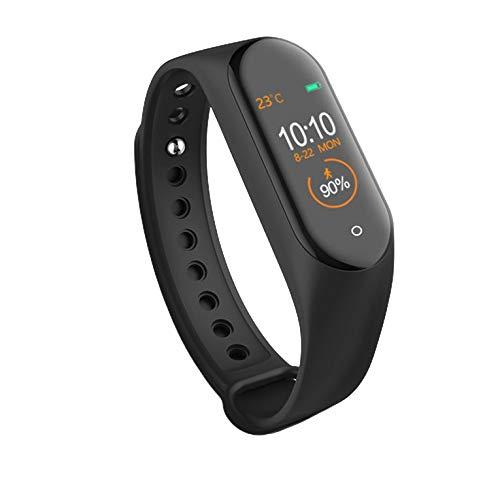 #N/V Reloj inteligente M4 con función de monitor de frecuencia cardíaca, reloj inteligente para hombres y mujeres, resistente al agua