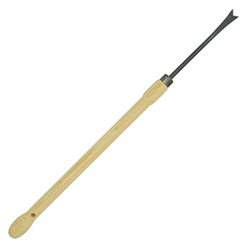 4betterdays.com NATURlich leben! Unkrautstecher mit Eschenholzstiel - aus Qualitätsstahl - Stiellänge: 48 cm, Gewicht: 350 g - Handgeschmiedet in Deutschland