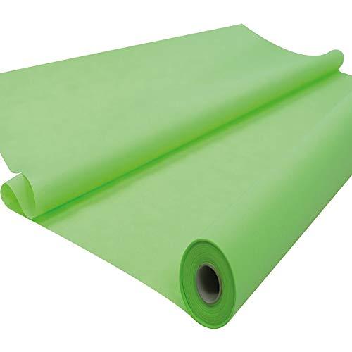 Fachhandel für Vliesstoffe Sensalux Tischdeckenrolle, stoffähnliches Vlies, Oeko-TEX Standard 100 - Klasse I Zertifiziert, 1,20m x 25m, Apfelgrün