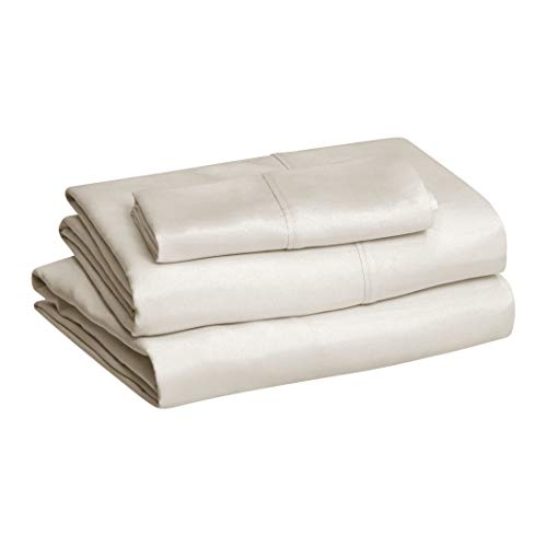 Amazon Basics Microfiber Sheet Set, Twin, Beige
