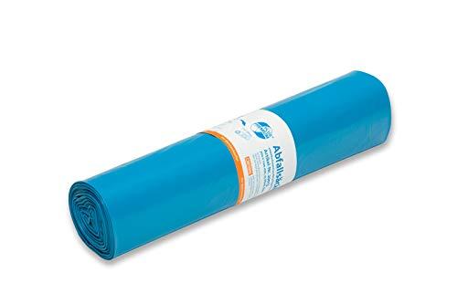 20013 Deiss-Sacchi della spazzatura da 120 l, 700 x 1100 mm, 60, colore: blu (confezione da 25)