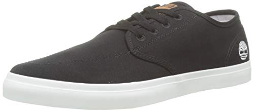 Timberland Union Wharf Derby Sneaker, Zapatillas Bajas para Hombre, Negro (Black Canvas), 43.5 EU