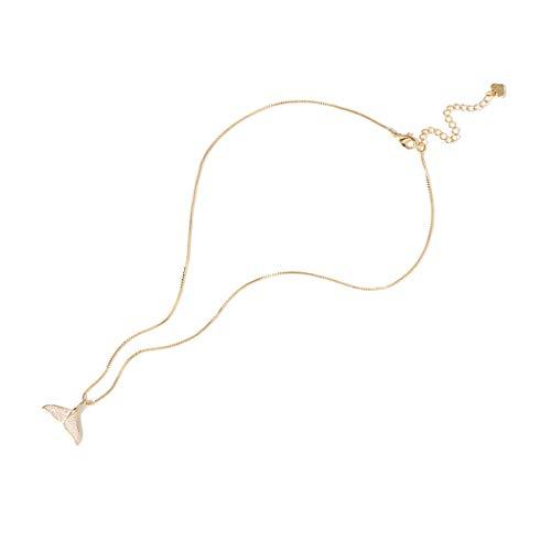 collares de mujer de moda Aleación de cola de la sirena colgante collar delfín cola de la sirena Collar de Cola de la ballena de pescado sirena de la joyería for muchachas de las mujeres Collar Dia De