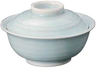 青白磁 蓋付茶碗 [ 12.4 x 7.5cm ] 【 円菓子碗 】 【 料亭 旅館 和食器 飲食店 業務用 】