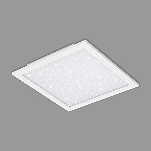 Briloner Leuchten - LED Panel, Deckenlampe inkl. Sternendekor, 22 Watt, 2.200 Lumen, 4.000 Kelvin, Weiß, 450x450x60mm (LxBxH), 7391-016