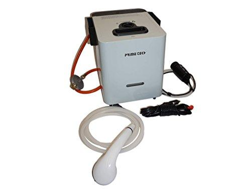 Prime Tech Warmwasser-Bereiter Durchlauferhitzer für Camping Gas-Betrieb