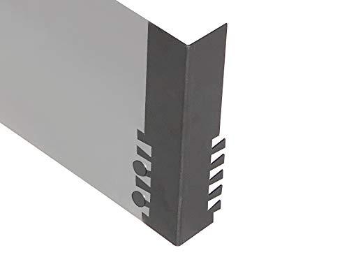 Firend Ecke aussen 50x50mm 3mm h150mm für Rasenkante Corten Stahl Edelrost Mähkante Beeteinfassung Umrandung Metall Magic Rasen ZP