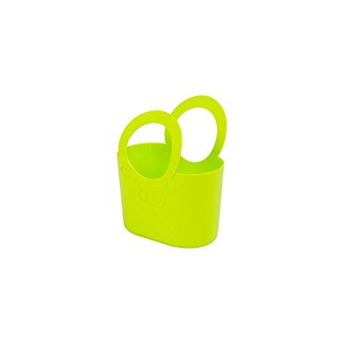 Prosperplast moderne Handtasche 1,2 L Picknickkorb limetten-grün Size M Griffe Lily Strand-tasche Tasche Basket Kunststoff Kosmetiktasche