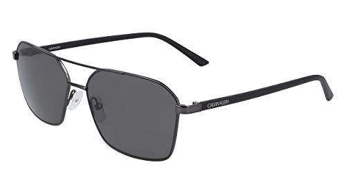 Calvin Klein EYEWEAR CK20300S gafas de sol, SATIN SLVR, 5815 para Hombre