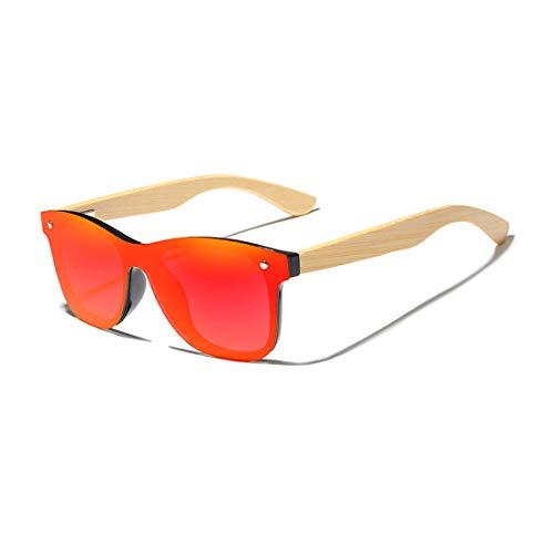 KINGSEVEN Women Men Unisex gafas de sol Acetate, Bamboo Wood Polarized, UV400, Anti-Reflective H-5504