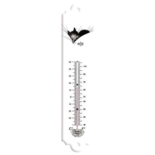 Editions Clouet 57023 - Thermomètre 30x8 cm Chats de Dubout - Gros Dodo