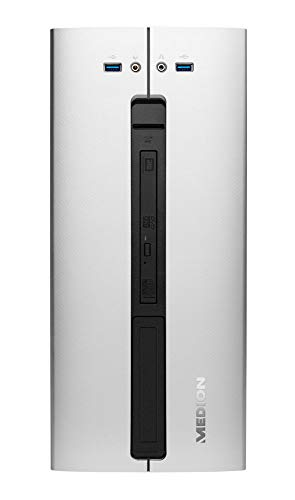 MEDION P62018 Desktop PC (Intel Core i5-9400, 8GB DDR4 RAM, 512GB PCIe SSD, DVD, Win 10 Home)