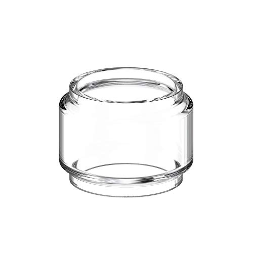 Vaportown Spare 3X Bubble Glass Tube for Voopoo Uforce T2 T1 Tank Rainbow Clear Fat Boy Replacement Tank with Extension Chimney Connector for Voopoo Drag 2 & Drag mini & Vmate Kit (Klar)