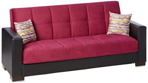 Ottomanson Sofa, 88 x 38 X 36, Burgundy