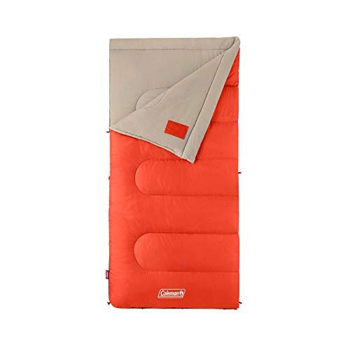 Coleman Sleeping Bag | 30°F Big and Tall Sleeping Bag | Oak Point Sleeping Bag, Orange