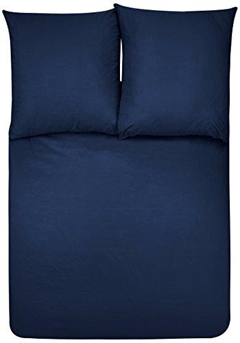 Amazon Basics Duvet Set, Bleu Marine, 260cmx240cm/ 65cmx65cmx2