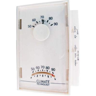 Supco 43005A Mechanical Wall Thermostat 50F To 90F Operating Temp 24V