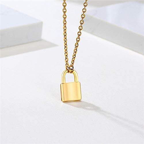 Ashes chain Fashion Gold Silver Color Padlock Pendant for Women Stainless Steel Necklace Street Candid Female Jewelry