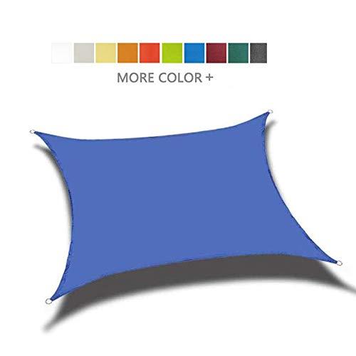 Shade Sails NEVY - zon waterdichte rechthoek luifel voor buiten Patio, Tuin, terras en camping, 95% UV-blok luifel, 10 kleuren (kleur: BLAUW, Maat : 3X5M)