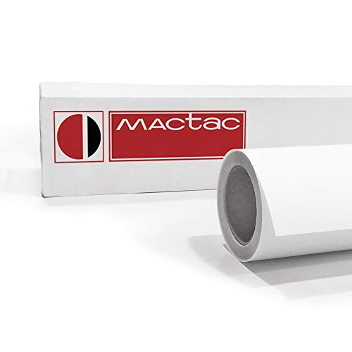 SalierShop Mactac IMAGin JT5798M BF | polymere Digitaldruck Klebefolie transluzent matt | permanent haftend | Breite 137cm | Rollenlänge 50m | mit Luftkanal Klebetechnik
