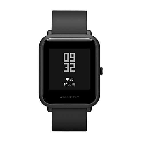 Global Versión Amazfit Bip Lite Xiaomi Huami Inteligente Reloj 1.28inch Dispaly Impermeable GPS 45 días Duración de la batería del Ritmo cardíaco del sueño (Color : Black)