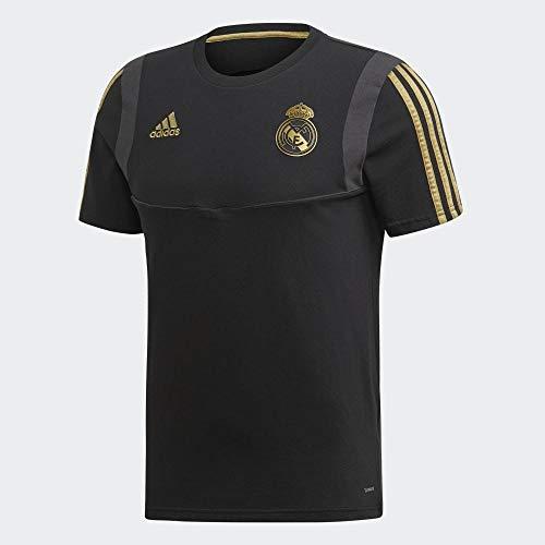 adidas Real tee Camiseta, Hombre, Negro/Orfúos, L