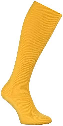 Rainbow Socks - Donna Uomo Calze Lunghe Al Ginocchio per Diabetici - 1 paio - Giallo - Tamaño 42-43