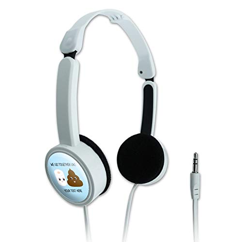 GRAPHICS & MORE Personalized Custom 1 Line Toilet Paper and Poop Best Friends Novelty Travel Portable On-Ear Foldable Headphones