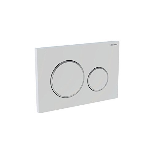 Geberit Sigma20115778KM1Actuator Actuator Plate for 2Flushes of Different Powers White/glanzchrom/White by Geberit