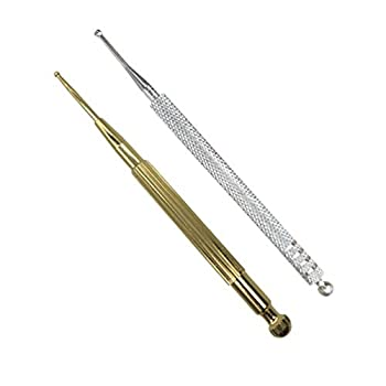 DOITOOL 2PCS Ear Acupuncture Point Probe Stainless Steel Body Stimulator Acupressure Pen Facial Reflexology Tools for Facial Search Massage Relaxing Deep Tissue