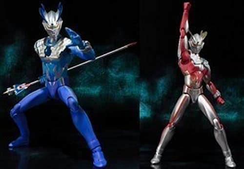 Bandai Tamashii Nations Ultra-act Ultraman Zero Strong CGoldna Zero & Luna Miracle Zero Action Figure by Bandai [並行輸入品]