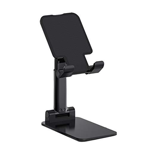 Altura plegable del ángulo del soporte del teléfono celular ajusta el soporte del tenedor de la tableta