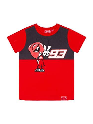 MM93 Maglietta Ufficiale MotoGP Yoke Cartoon - Bambino - Rosso - 10/11 Anni